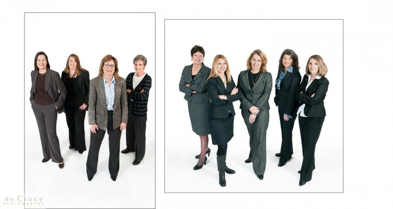 Commercial photography group shots done on location in Denver, Colorado