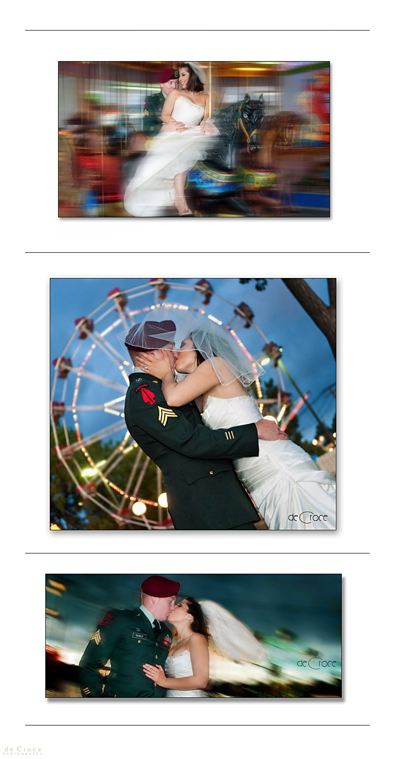 Bride and Groom at Lakeside Amusement Park In Denver, Co.