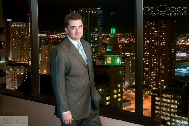 Commercial photography in Denver, Colorado at night