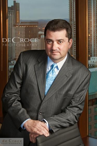 Business portrait on location (Denver executive portrait) by Colorado commercial photographers DeCroce