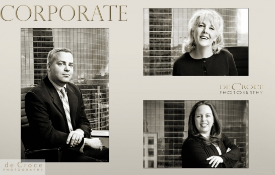 Black and white business portraits for Denver advertisement