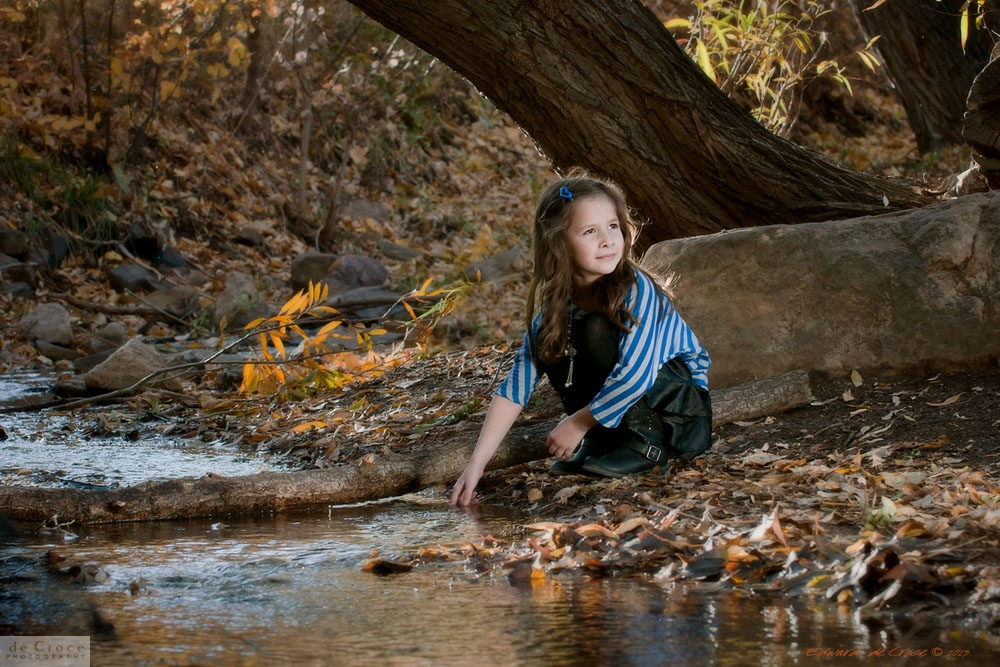 Girl Playing Outdoors Photographic Portrait Colorado