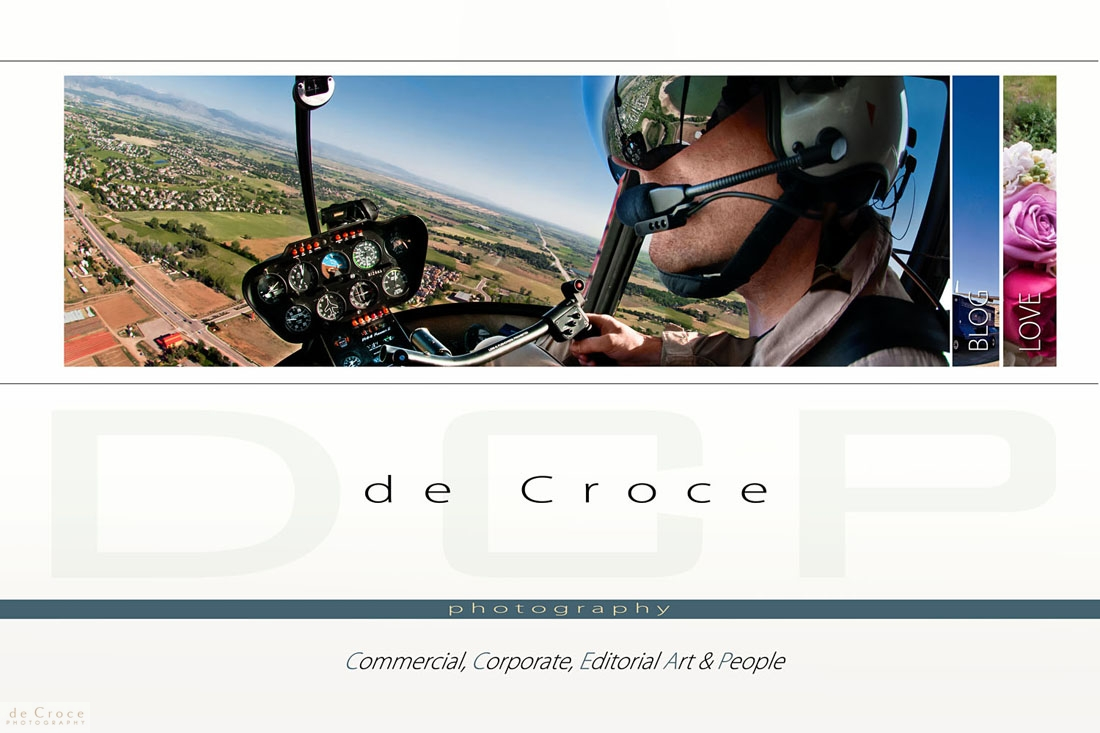 Editorial, corporate and commercial Photography landing page DeCroce