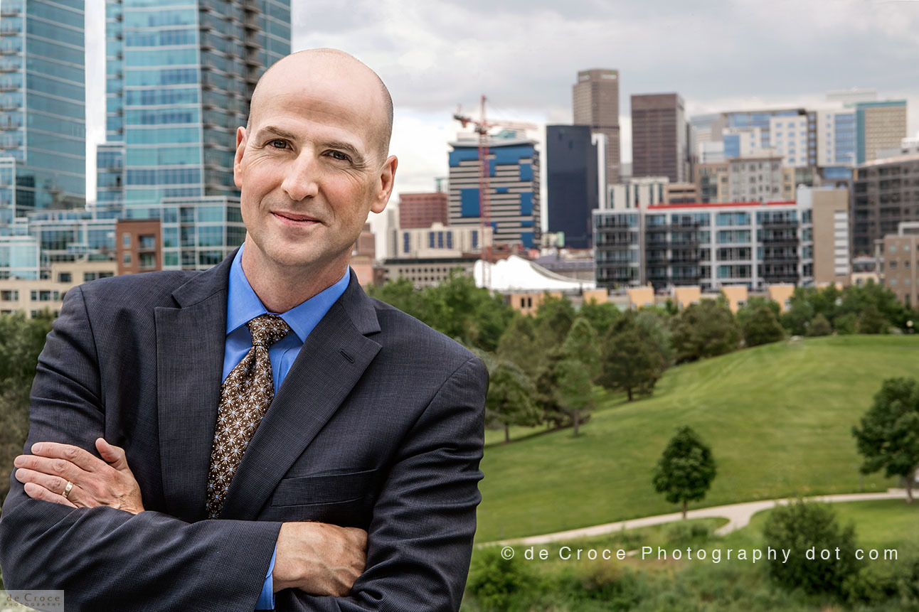 Denver executive portrait photography in downtown Denver location.