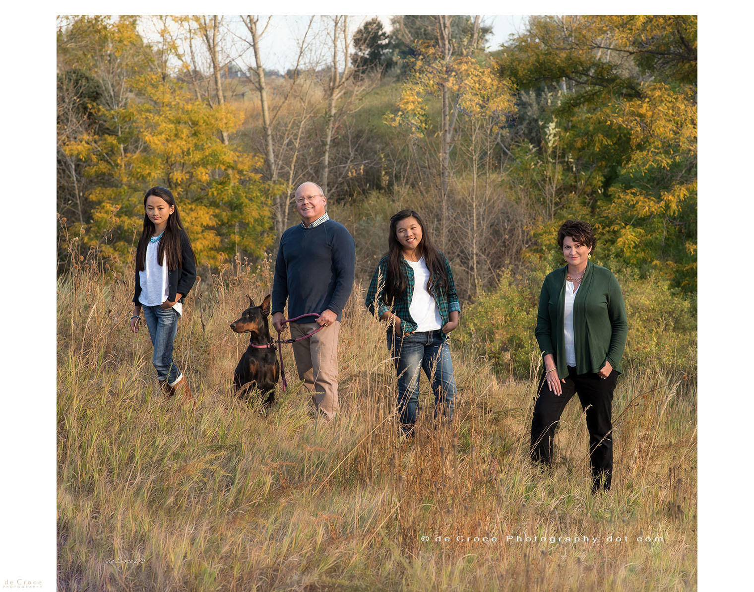 family outdoor color portrait